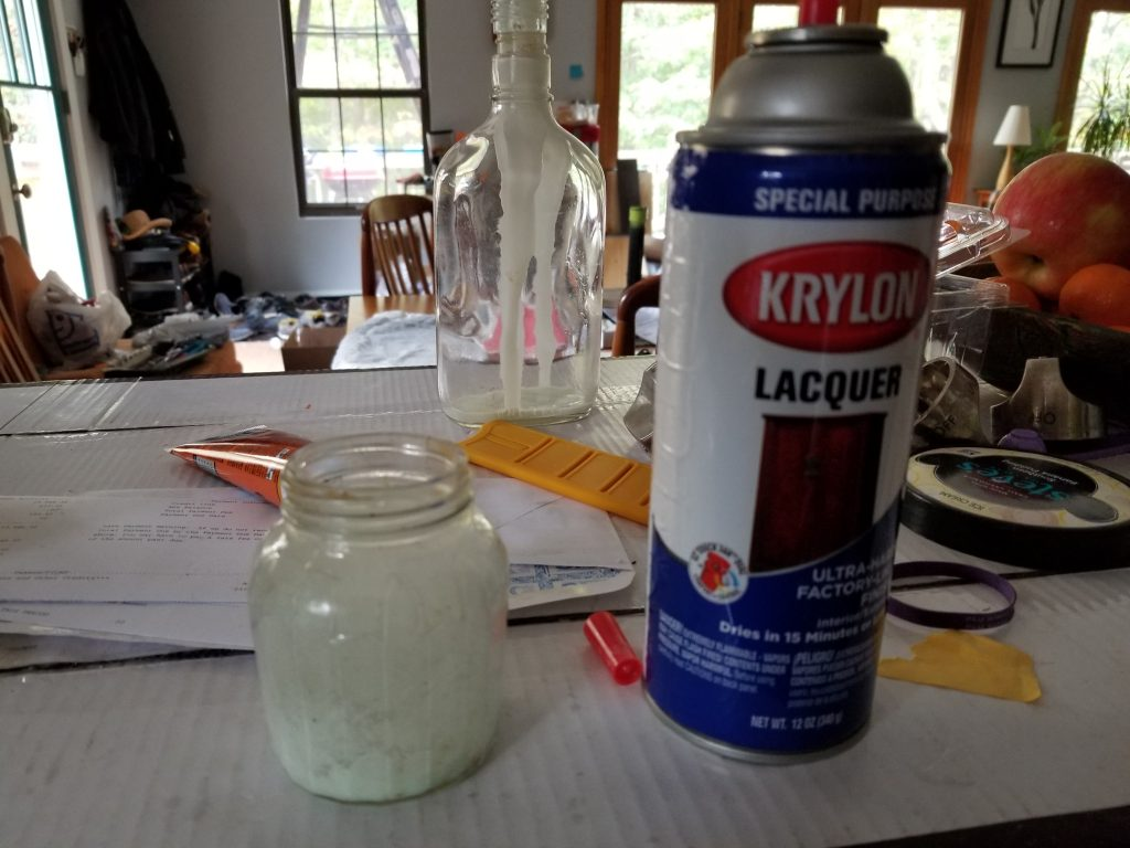 The tools that do work for this project:  glass jar and Krylon Laquer